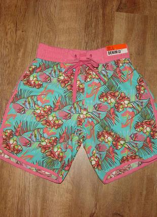 Новые яркие летние шорты denim, размер 8