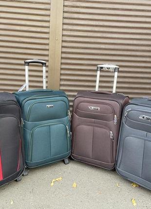 Акция !!! чемодан s 55x37x23 ,ручная кладь,текстиль ,2 колеса ,4 колеса ,ткань