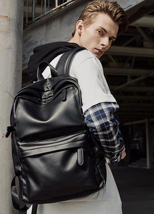Крутой рюкзак с usb шнур. кожаная сумка. мужской рюкзак. кожаный портфель для ноутбука