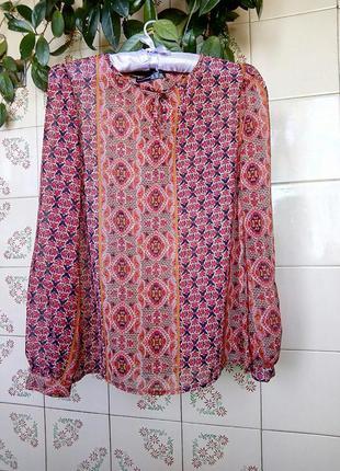Яркая блуза. размер 10 (38).
