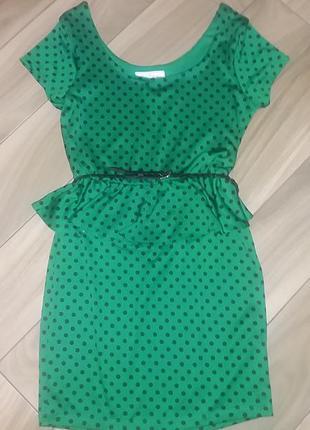 Платье в горошек р. м