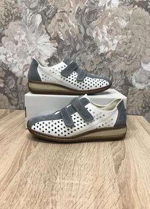 Rieker antistress 39-40 р кожа туфли туфлі мокасини мокасины