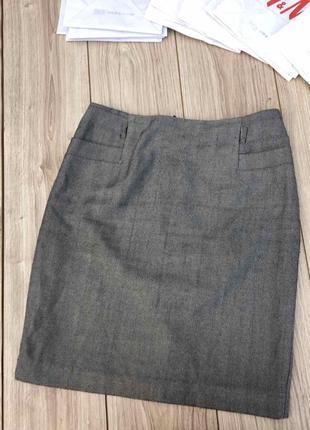 Стильная актуальная юбка massimo dutti h&m zara asos елочка шерстяная
