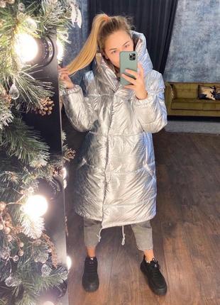 Зимняя куртка «зефирка» на силиконе