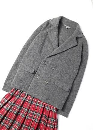 Крутой вязаный шерстяной пиджак laura ashley