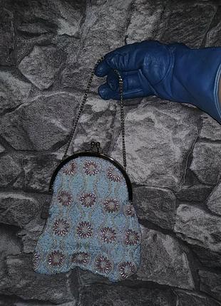 Винтажная сумочка вышитая бисером