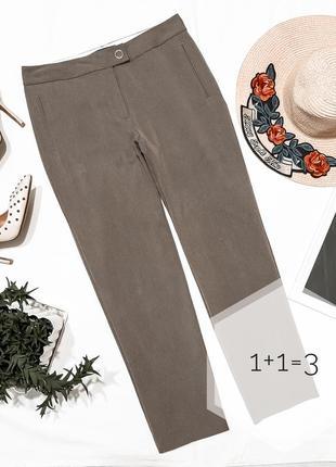 M&s базовые брюки s-m укороченные классика прямые зауженные штаны осень стрелки