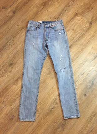 Фирменные, джинсы, оригинал levis skinny 501, 29 размер