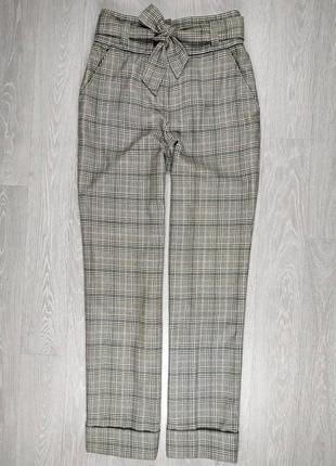 Теплые прямые брюки