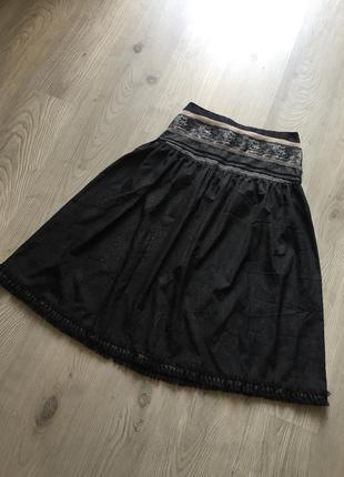 Нарядная вечерняя юбка миди с блестками, размер м