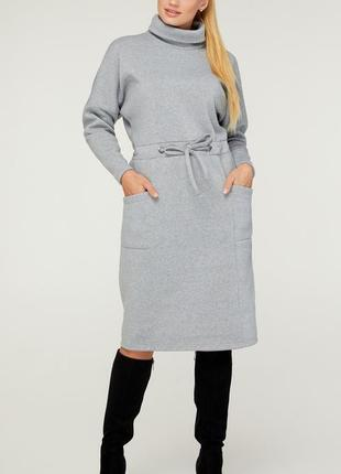 Теплое платье батал 50-58
