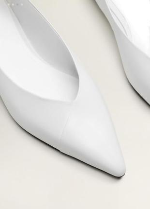 Кожаные белые балетки 40р на 25-25,5 см