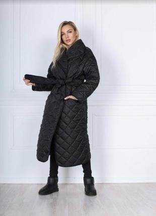 Стеганое пальто оверзайз
