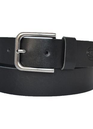 Ремень кожаный мужской черный под джинсы  mascot3