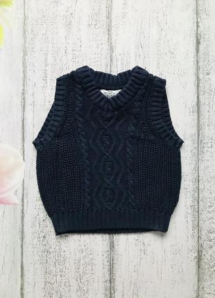 Крутая вязанная жилетка свитер junior 18-24мес