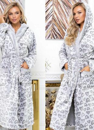 Шикарные махровые плюшевые халатики размеры 42-60😍😍😍