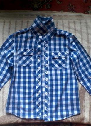 Рубашка на мальчика 9-10лет.