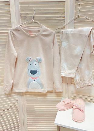 Пижама флисовая плюшевая тёплая домашний костюм одежда для дома