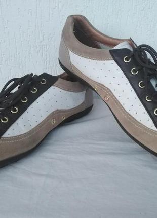 Кроссовки,спортивние туфли кожанние geox respira р.41