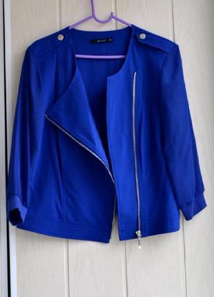 Шикарный нарядный пиджак жакет косуха шифоновые рукава