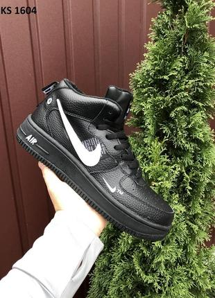 Nike air force 1 high winter зимние кроссовки на меху