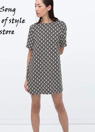 Zara платье с геометрическим узором