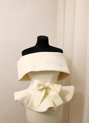 Шикарный нарядный костюм с баской юбка блуза миди вечерний свадьбу торжество
