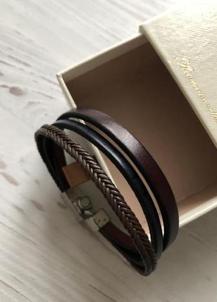 Кожаный браслет massimo dutti