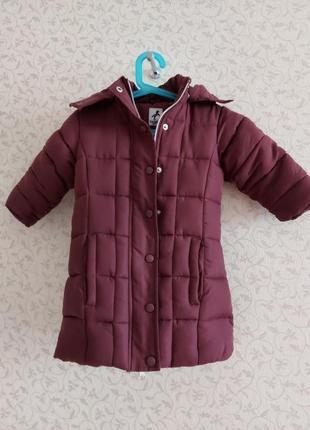 Зимове пальто для дівчинки, пальто зимнее детское