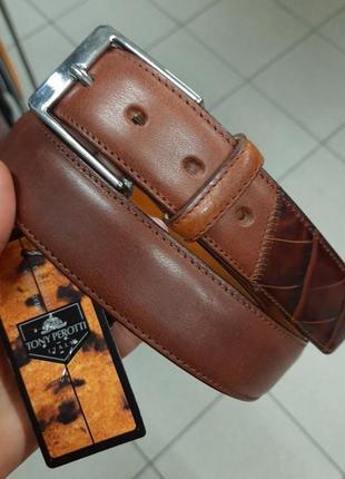 Sale итальянский кожаный ремень tony perotti