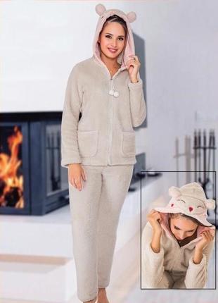 Тёплая пижама cocoon с ушками