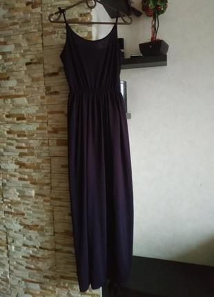 Длинное платье на бриьелях сарафан