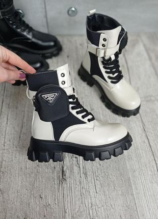 Зимние белые ботинки =monolith=