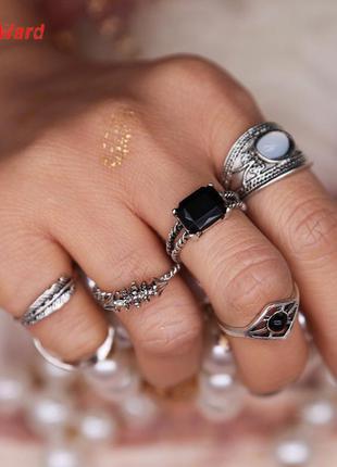 Набор колец кольца на фаланги этно бохо