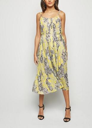 Крутое плиссированное миди платье -14 - на 12, 12-14