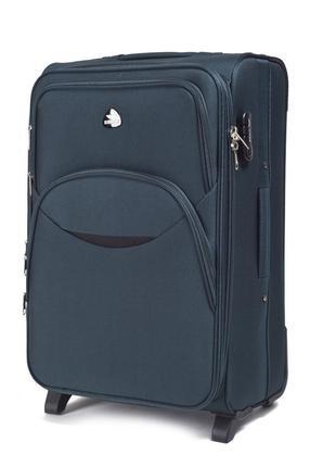 Тканевый дорожный чемодан wings 1708 средний 2 колеса