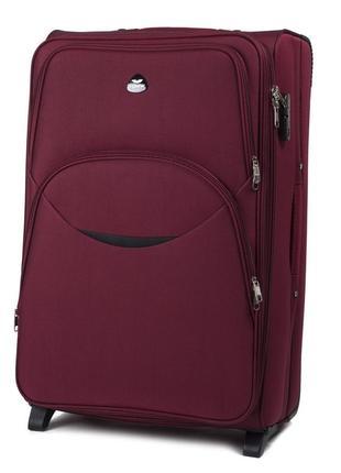 Большой текстильный чемодан wings на 2 колеса 1708