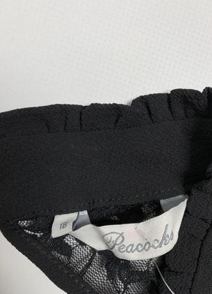 Чёрное платье с длинными рукавами и красивым воротником от peacocks4 фото