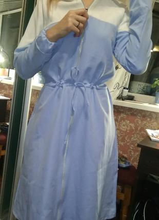 Стильные миди платье на молнии с рукавами поясок- xs s m l