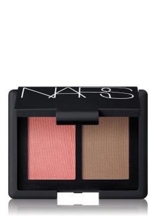 Палетка для лица nars blush bronzer duo румяна и бронзер для лица - orgazm/laguna