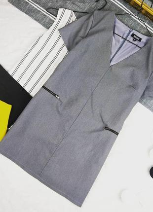 Платье с v-образным вырезом из костюмной ткани missguided