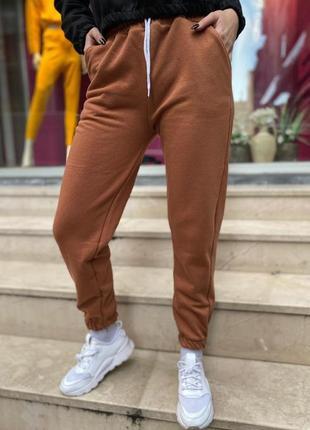 Штаны теплые. спортивные штаны зимние. штаны трехнитка на флисе3 фото