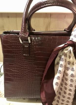 Бордовая сумка, большая сумка, сумка accessorize