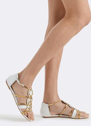 Сандалии ralph lauren collection chain leather mabyn sandal