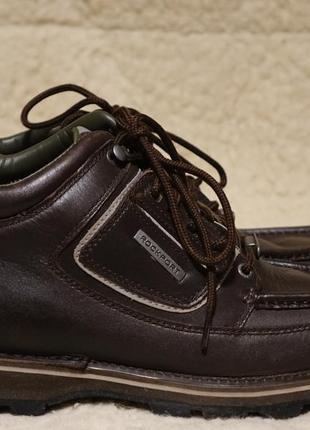 Коричневые кожаные ботинки rockport xcs umbwe trail waterproof hydro-shield leather 43 р.