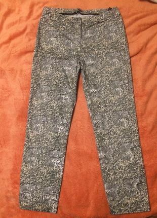 Marks & spencer m&s штаны брюки бриджи капри с животным принтом
