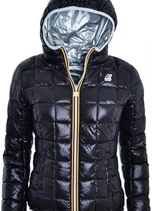 Двусторонняя куртка-пуховик от k way (оригинал).