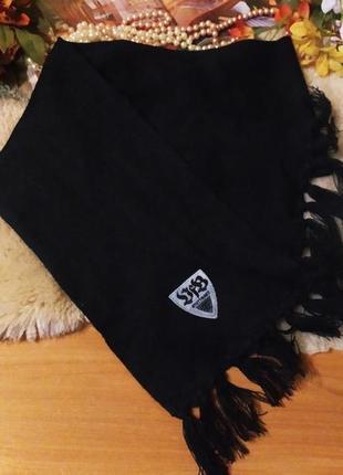 Класний чорний вязаний мужський шарф мягкий теплий шарфик для мужчини чи хлопчика