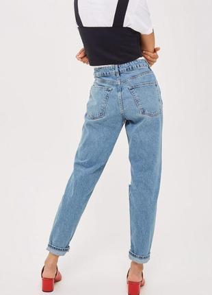 Винтажные мом джинсы с высокой талией