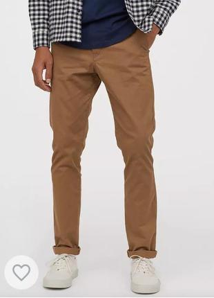 Новые мужские брюки , чино, чиносы коричневые